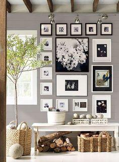 cuadros para salon Ideas para organizar cuadros en la pared