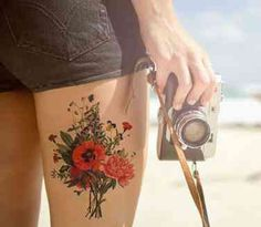 Red Ink Tattoo Designs For Body Art Inspiration red ink tattoo ink tattoo Red Ink Tattoos, Fake Tattoos, Leg Tattoos, Temporary Tattoos, Body Art Tattoos, Tatoos, Sleeve Tattoos, Tattoo Bunt, 4 Tattoo