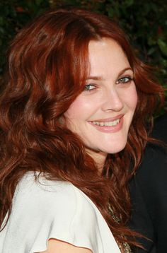 Are you thinking about changing the colour of your hair? Look at Drew Barrymore's hair colour!