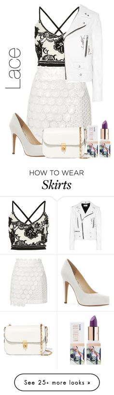 """white lace"" by priyaarun on Polyvore featuring Topshop, Yves Saint Laurent, Jessica Simpson, Valentino and Teeez"