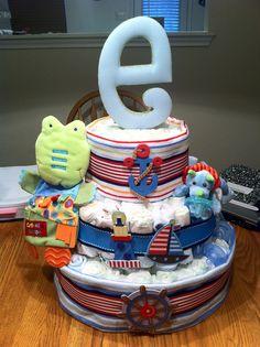 Nautical Diaper Cake!