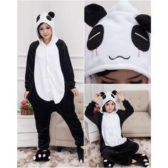 Panda Pajamas Animal Onesies Costume Kigurumi $20