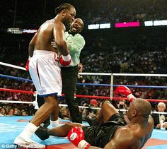 Lennox Lewis vs Mike Tyson When one legend takes over from another......