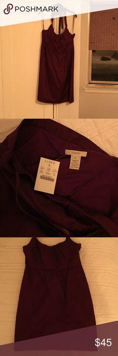 J. Crew burgundy halter dress Brand new!!! Super cute burgundy halter dress.  Size 14 with tags. J. Crew Dresses