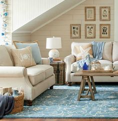Christmas Touches... in a Beachy Blue Living Room.... http://www.beachblissdesigns.com/2016/10/christmas-in-sand-blue-beach-theme-living-room.html
