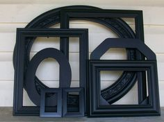 7 Beetle Black Picture Frames by DirtRoadDecor on Etsy, $63.00