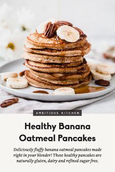 Banana Oatmeal Pancakes, Sweet Potato Pancakes, Banana Oats, Healthy Banana Pancakes, Oat Muffins, Banana Pancakes Coconut Flour, Health Pancakes, Oat Pancakes Vegan, Dairy Free Pancakes