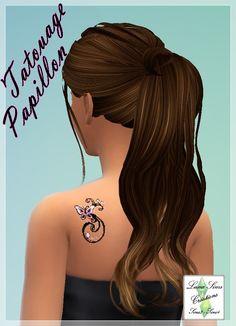 Tatouage Papillon Luna Sims