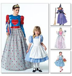 Alice in Wonderland, Wizard of Oz, Costume Pattern by McCall's P374 and 4948 * Adult Size S, M, L, XL TLC's Treasures https://www.etsy.com/listing/130603107/alice-in-wonderland-wizard-of-oz-costume?ref=shop_home_active_1