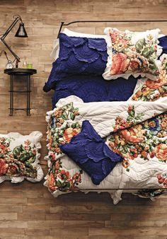 this is gorgeous....anthropologie esperanza quilt and rivulet quilt/shams
