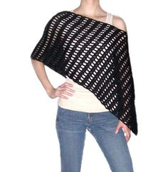 Striped Asymmetrical Poncho  PDF Crochet pattern