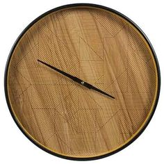 Clyde Clock 40.5cm Natural from Freedom at Crossroads Homemaker Centre