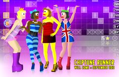 Chiptune Runner game will come in September 2013  #gamedev #indiegame #game #indie #chiptune #girls #cartoon #retro