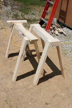 sawhorse canoe stands how to make-2539