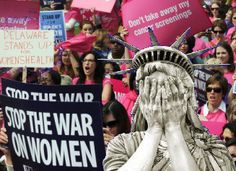 Liberty Weeping War on Women- Conservatives like to pretend there is no war on women, so PoliticusUSA developed a running list of legislation to prove that there is indeed a war on women. The proof is in the policy, and policy trumps words.