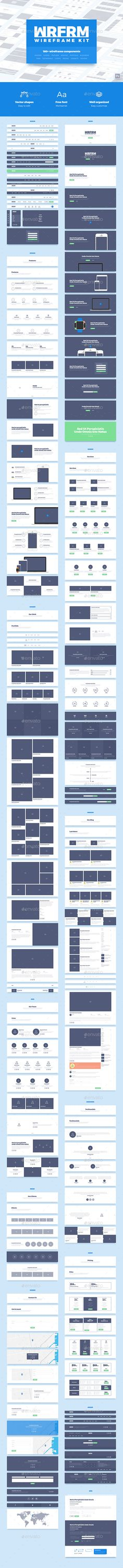 WRFRM – Wireframe Kit  #photoshop #psd #site • Click here to download ! http://graphicriver.net/item/wrfrm-wireframe-kit/15999673?ref=pxcr