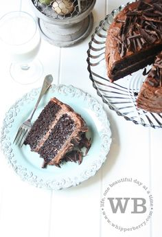 """Simple Cake Mix Fix - Prepare 1 box choc. cake mix according to directions, then stir in 1c mini choc. chips, 1c sr cream, and 1pk of choc. pudding (small 3.5 oz. box). Bake in two 9"""" rounds as directed (it may need an extra minute or two). I bet this is moist!"""