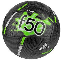 f37360d3ba22 adidas Unisex X-ite Black/Solar Green/White The brightly colored x-ite ball  always grabs the spotlight during practice on the pitch.