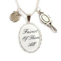 FAIREST of them all Snow White necklace  apple and by LunarraStar, $31.00