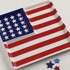 Stoneware Flag Platter - <3 this!