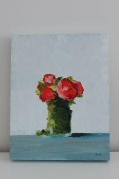 Ranunculus painting / swallastudio