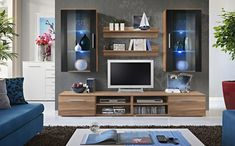 Modern tv wall unit details about 5 white black modern wall unit living room entertainment center Tv Wall Cabinets, Living Room Wall Units, Modern Tv Wall Units, Living Room Entertainment Center, Black Walls, Living Room Wall, Tv Entertainment Stand, Wall Unit, Entertainment Center Furniture