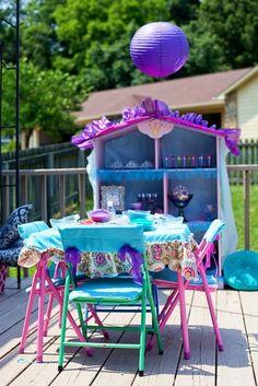 What a beautiful Arabian nights table! #princess #arabiannights #party