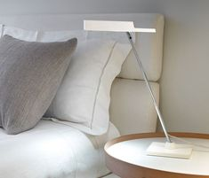 Bover Spock Table Lamp in Chrome by Christophe Mathieu Spock, Stainless Steel Table, Woven Shades, Glass Diffuser, Outdoor Wall Sconce, Bedroom Lighting, Light Table, Desk Lamp, Table Lamps