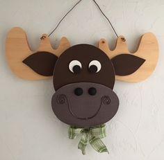 Moose head door hanger from Wood Creations.