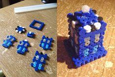 Tardis Doctor Who perler beads by  Echilon on deviantART