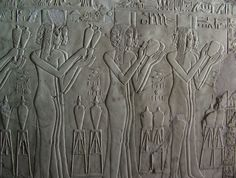https://flic.kr/p/E8rWm | Cheruef 2720 | Tomb of Kheruef Daughters of great ones pouring libations before Amenhotep III