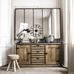 Miroir indus en métal L 180 cm CARGO VERRIÈRE | Maisons du Monde