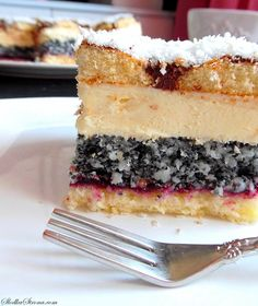 Sweet Desserts, Delicious Desserts, Easy Cake Decorating, Polish Recipes, Baking Tips, Vanilla Cake, Cake Recipes, Food And Drink, Cooking Recipes