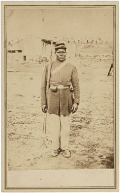 """Civil War: """"Photograph of Private Hubbard Pryor After Enlistment"""" by unknown (NARA) photograph photography iconic famous"""