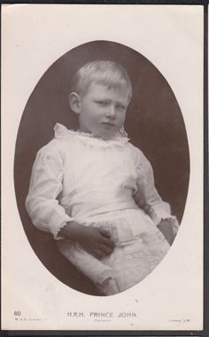 "The cute and tragic prince John of England aka ""The lost Prince""-youngest child of Britain's King George V and Queen Mary – who died at the age of 13 in 1919."