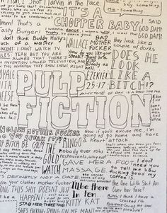 Pulp Fiction Movie Quotes Poster by ComfortablyDazedArt on Etsy, $10.00