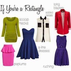 Rectangular body shape clothing ideas