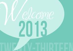 Welcome 2013 filler card for project life