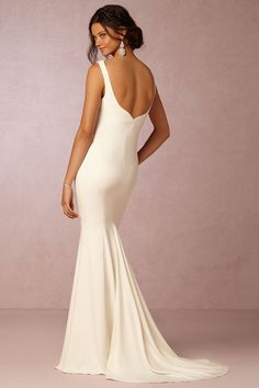 Abigail Gown from @BHLDN - LOVE THE CREPE, LOW BACK, AND NECKLINE