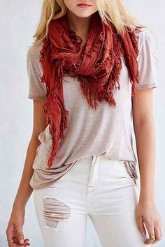 I love this scarf. A nice punch of color to a simple outfit. If you find more bright simple but stylish scarves on another website be my guest