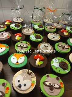 woodland animal cupcakes Animal Cupcakes, Woodland Animals, Facebook Sign Up, Food, Forest Animals, Meal, Woodland Creatures, Essen, Hoods