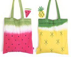 Ähnliche Artikel wie Ananas - Cotton Tote - Beutel Segeltuchtasche Umhängetasche - wiederverwendbare Einkaufstasche - Tropical - Fairtrade - Frucht Print - Vegan - Strand auf Etsy
