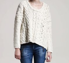 Rag & bone Cable Knit Sweater - so cozy!
