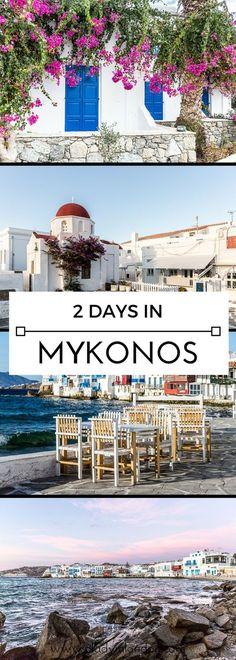 A lovely guide to spending 2 days on the island of Mykonos in Greece. #mykonos #greece #europe #island
