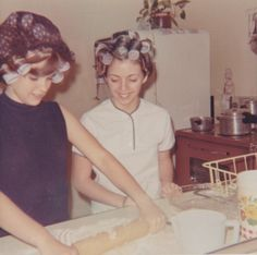 Mommy insisted that my Sister and I learn to be good wives someday. We learned to bake & cook to become good Housewives