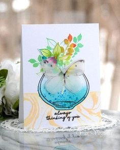 Always Thinking Of You, Altenew Cards, Alcohol Markers, Diy Cards, Handmade Cards, All Paper, Mothers Day Cards, Pretty Cards, Clear Stamps