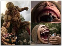 This Attack On Titan theme park in Osaka has some incredibly awesome photo spots Cool Pictures, Funny Pictures, Random Pictures, Creepy, Scary, Pet Pigs, Silly Memes, Funny Tumblr Posts, Cursed Images