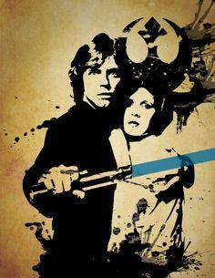 Star Wars Luke Skywalker Grunge Print por WordPlayPrints en Etsy