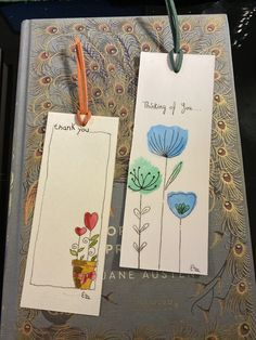 Creative Bookmarks, Cute Bookmarks, Handmade Bookmarks, Watercolor Bookmarks, Watercolor And Ink, Bookmark Craft, Watercolor Paintings For Beginners, Book Markers, Doodle Art