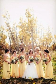 Rustic Wedding Inspirations 8622477003 Elegant and unique answers to build a fascinating rustic country wedding colors Pretty Rustic Wedding ideas pinned on this rustic day 20181202 Yellow Bridesmaids, Fall Bridesmaid Dresses, Bridesmaids And Groomsmen, Wedding Dresses, Wedding Bridesmaids, Bridesmaid Ideas, Gown Wedding, Bridesmaid Bouquet, Bridesmaid Jewelry